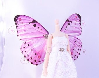 1/6 OOAK Butterfly wings for Dolls Blythe/ Pullip/ USD - Colisione - Crystal Pink