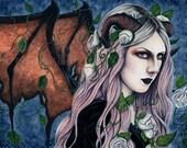 Unseelie 8.5 x 11 inch Print Gothic Fairy Art