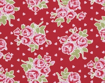 Valentine Rose by Tanya Whelan - Falling Roses and Hearts in Red - PWTW076
