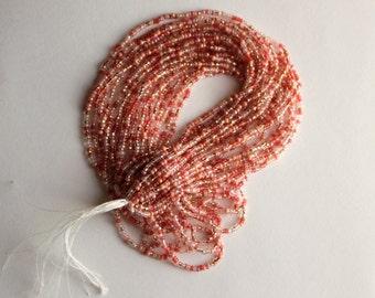 1 Hank Czech Glass seed beads, Mixed Pink, size 11
