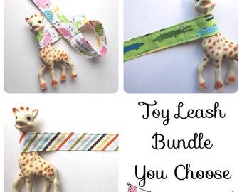 Baby Gift Set - Toy Leash Bundle - You choose - Sophie Leash - Toy Strap