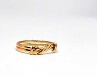 Knot an Ordinary Kind of Love Shibari Themed Gold Filled Knot Ring