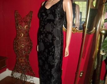 VTG Black VelveteenDress  20'sTheme Size 10