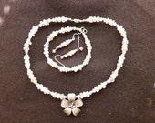 Custom Chalcedony Necklace Set for Tara