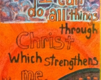 Philippians 4 : 13 Card and envelope
