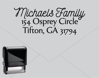 FREE US SHIPPING * Self Inking Return Address Stamp * Custom Address Rubber Stamp (E121)