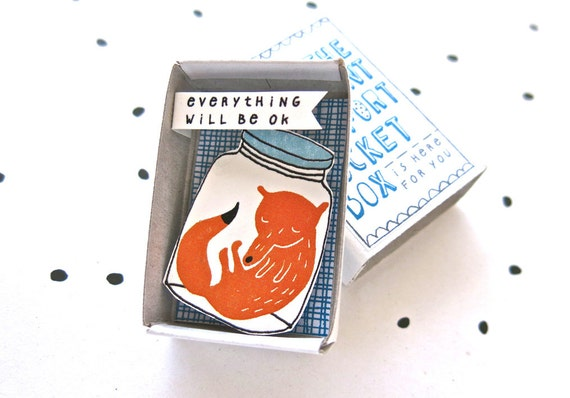 Fanstastic Mr Fox - The Instant Comfort Pocket Box - everything will be ok - consolation or cheer up box - sympathy gift