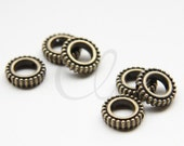 20pcs Antique Brass Tone Base Metal Spacers- Beads Frame - Ring 12mm - Inner size 7mm  (2655X-F-591)