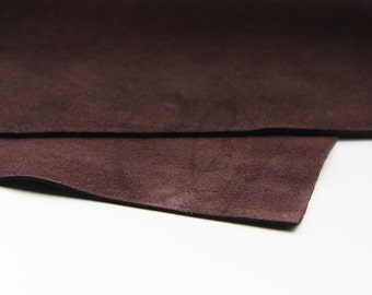 One Sheet of Leather Cow Suede by Metal Complex - Brown 8x10 Inch