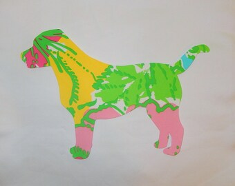 New made To Order Labrador Pillow made with Your Choice of over 30 new authentic Lilly Pulitzer fabrics