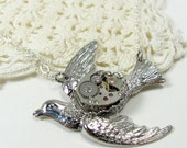 SALE Steampunk Bird of Hope Necklace STORE CLOSING
