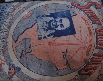 VintageSouvenirSondandPictureBookShadyValleyFolksUncleGeorgeWoodHilliardCurriePubChicago