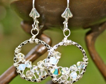 Crystal Clear Crocheted Hoops