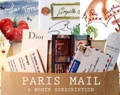 Paris Letters : 6 month Subscription +  original watercolor bonus