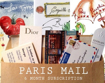ParisBreakfast Letters : 6 month Subscription +  small original bonus watercolor
