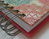 Greeting Card Organizer with Address Book and Birthday Reminder with Multicolor Lace Print Cover
