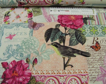 Michael Miller • French Journal • Belle Rose • Cotton Fabric 002141