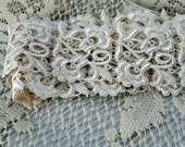 Two Yards Stunning Lace, Beautiful In One Length Or Cut Into Medallions