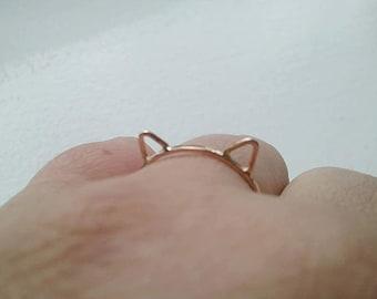 Cat Ears Ring Cat Ring 14k Rose Gold Fill