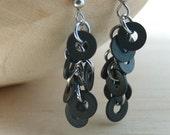 Dangle Earrings Clusters Black Hardware Jewelry