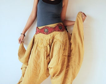 Swirl Funky harem pants (1463) Mix silk available in all colours