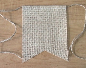 Burlap Banner Add On ~You pick number to be added ~Rag Tie Garland add on ~High chair Banner ~Birthday Banner ~photo prop
