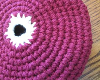 Crochet Frisbee, Soft Frisbee Disc, indoor Outdoor Frisbee