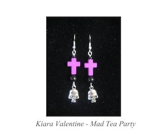 Pastel Goth Cross and Bones Earrings