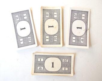 40 Vintage Monopoly Money Ones