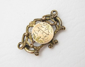 Antique Watch Pin Engraved Initial A Antique Jewelry P6599