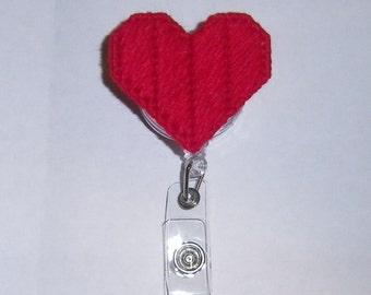 Heart Retractable Badge Clip