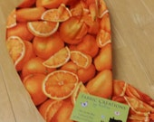 The *Happy Andi* Hanging Grocery Bag Holders, Oranges, Orange slices themed - RTS