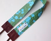 SLR Camera Strap - Cross body with amy butler fabric - floral Crossbody - Hipster Style