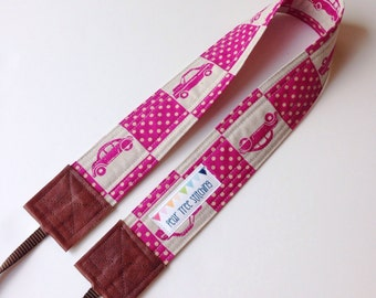 SLR Camera Strap - Cross body with Japanese car fabric - Crossbody - Hipster Style