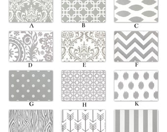 """54"""" Wide Gray and White Window Curtains 64"""", 84"""", 96"""" and Up Window Panels, Draperies- Blackout Available"""