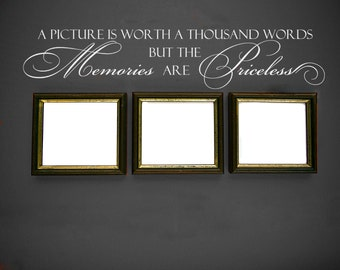 """Wall Decal for Living Room Decor Family Wall Decal """"Memories are Priceless"""" Vinyl Lettering Home Decor Picture Wall Decal Vinyl Decal"""