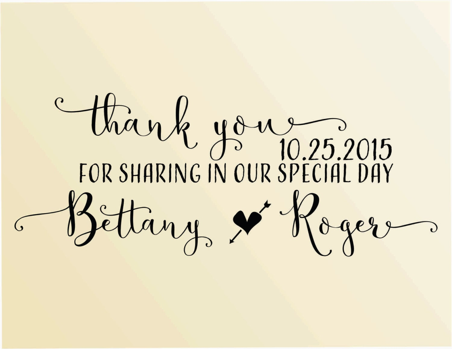 Thank you calligraphy font custom stamp self inking style