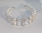 Swarovski Pearl & Crystal Bridal Jewelry - Bracelet - Any Color or Combo - SHIPS WITHIN 24 Hrs