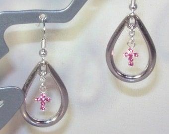 Swarovski Crystal Cross Earrings - MADE TO ORDER