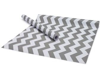 "Chevron Graphite Contact Paper/Shelf Liner - 18"" x 5'"