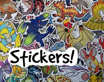 Monster Hunter - Stickers (average 15) choose from over 60 designs!