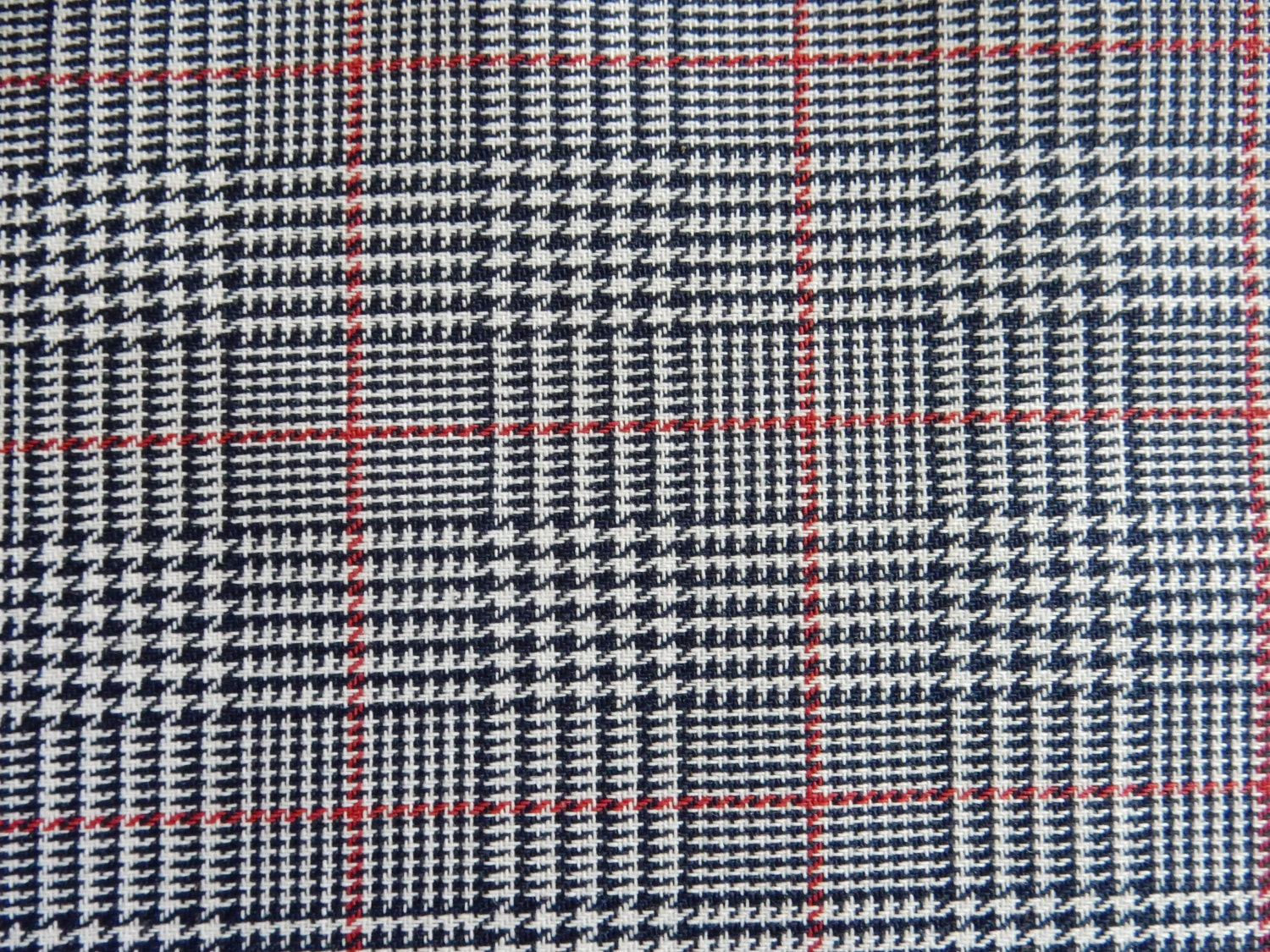 navy blue white red houndstooth plaid fabric apparel home. Black Bedroom Furniture Sets. Home Design Ideas