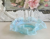 Vintage Fenton Hobnail Opalescent Dish - Country French Decor - Wedding Decor