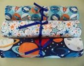 Baby Burp Cloths  Blast Off Space Baby Burp Cloth Set Baby Accessories Handmade