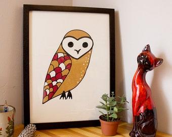 Barn Owl Screen Print
