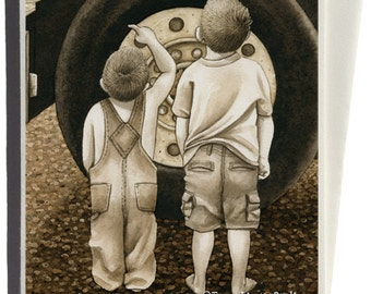 Big Wheel Greeting Card by Tracy Lizotte