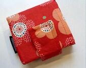 bibi bifold pocket wallet - with long pocket for money- magnetic snap closure