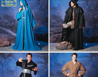 Simplicity 5840 Sewing Pattern- Misses, Men & Teen Hooded Capes and Inspired Star Wars Costumes - Sizes:  XS - S - M - L - XL