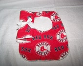 MLB Boston Red Sox Baseball Baby Girl- Boy Bib-Burp Cloth Gift Set on Chenille Newborn Coming Home Hospital Dads Moms