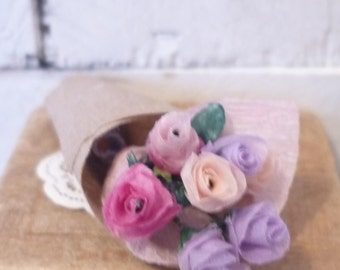Mixed Color Miniature Dollhouse Roses